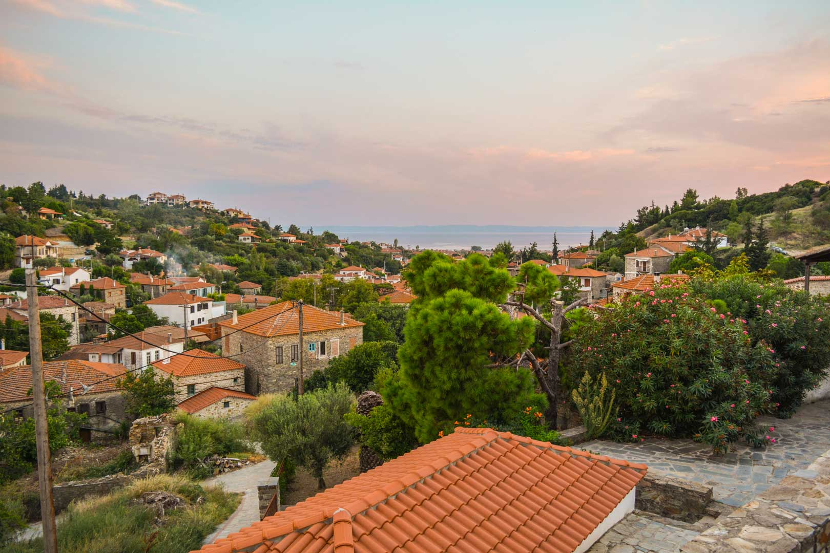 view from nikiti chalkidiki travelshare.gr Χαλκιδικής