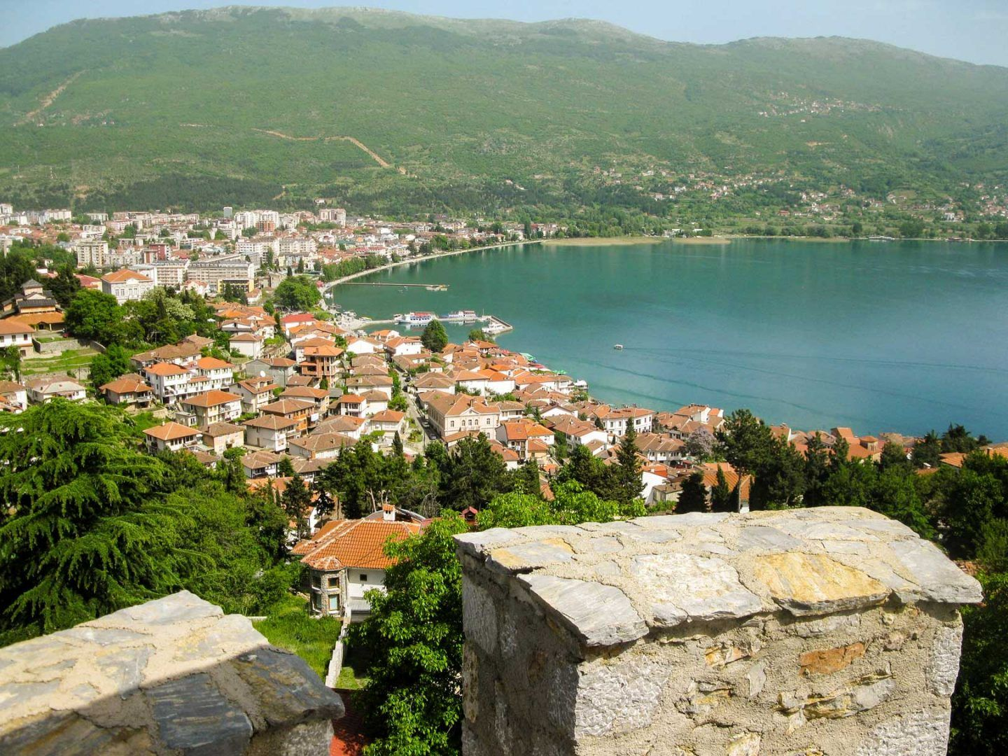 Οχρίδα view from ohrid fort travelshare.gr