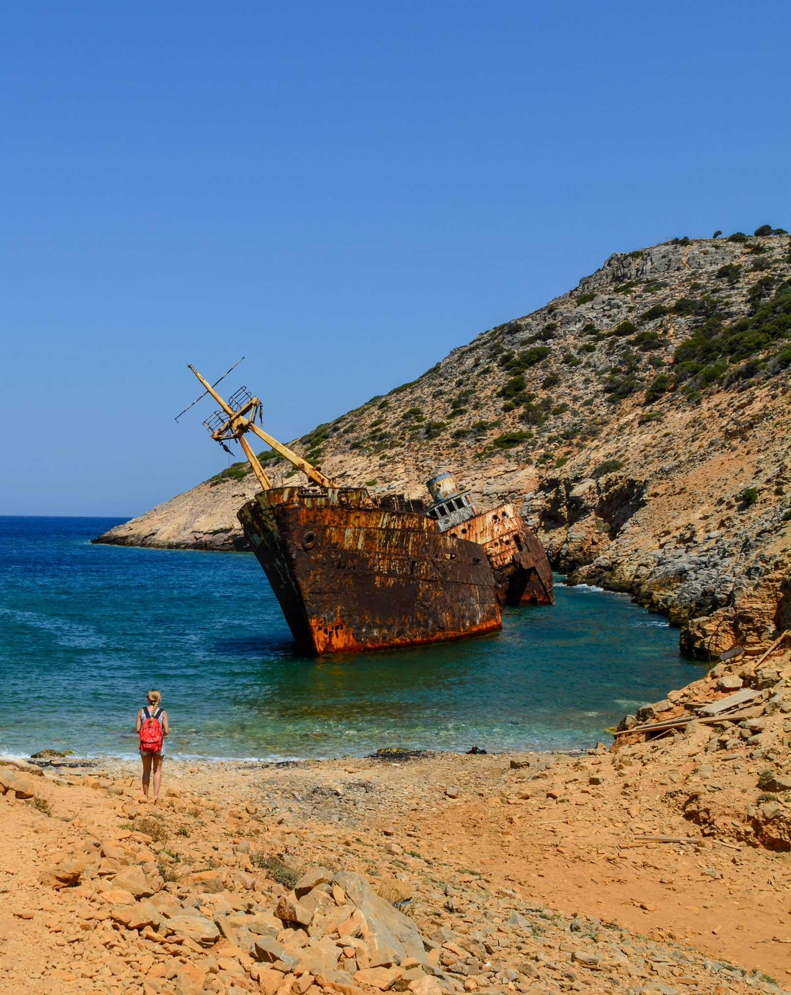 ναυάγιο Αμοργός travelshare.gr