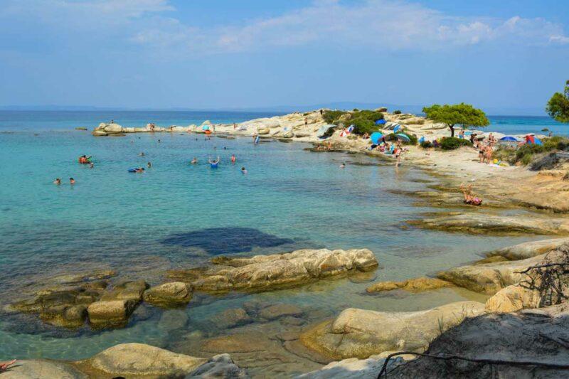 παραλίες της Χαλκιδικής Καρύδι