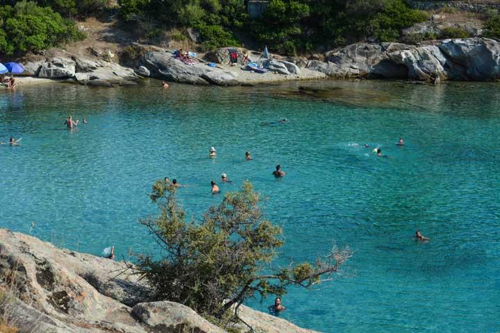 παραλίες της Χαλκιδικής Ακτή Σπαθιές