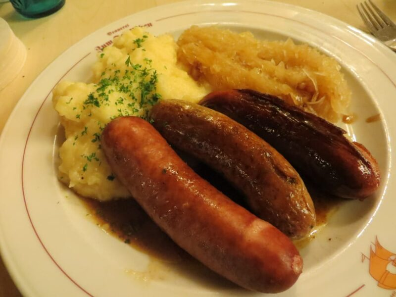 Γεύσεις από το Dusseldorf λουκάνικα Γερμανία