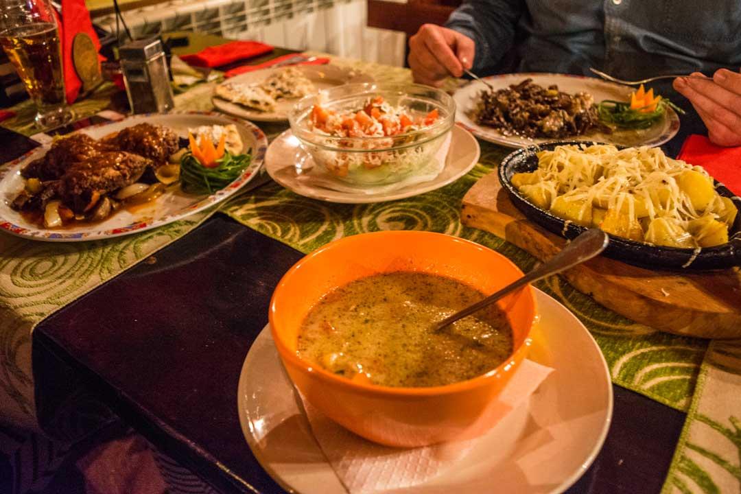 Διακοπές στο Μπάνσκο - Φαγητό