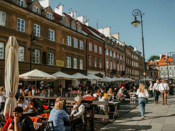 Φαγητό στη Βαρσοβία παλιά πόλη