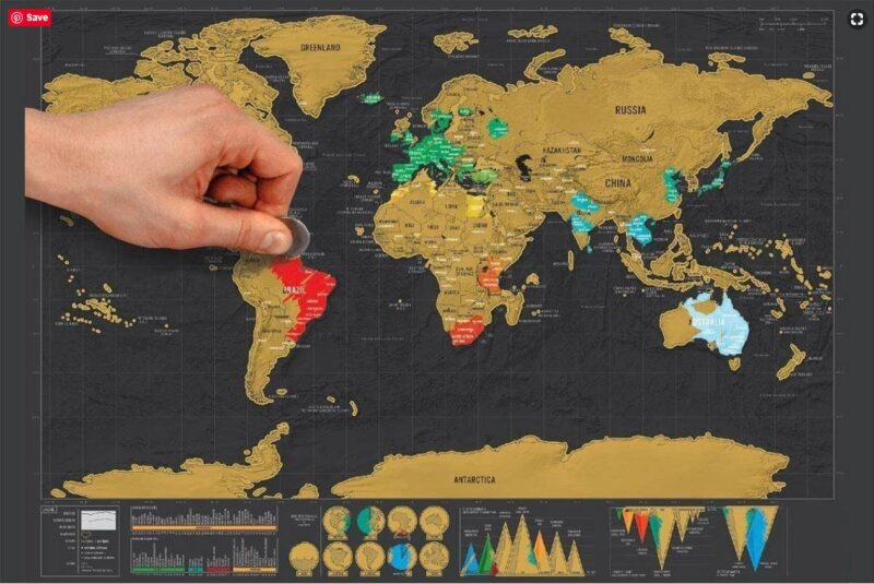 Giveaway Scratch Map
