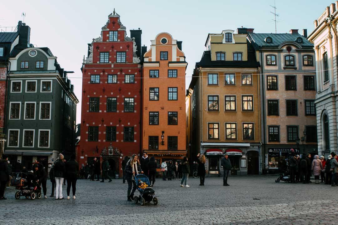 ταξίδι στη Στοκχόλμη πλατεία Stortorget