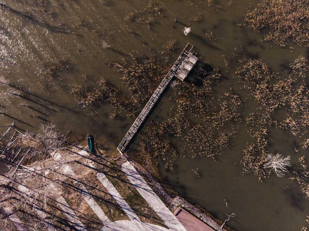 Λίμνη Δοιράνη λήψη με drone