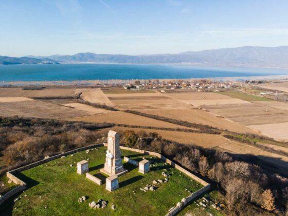 Λίμνη Δοιράνη μνημείο πεσόντων