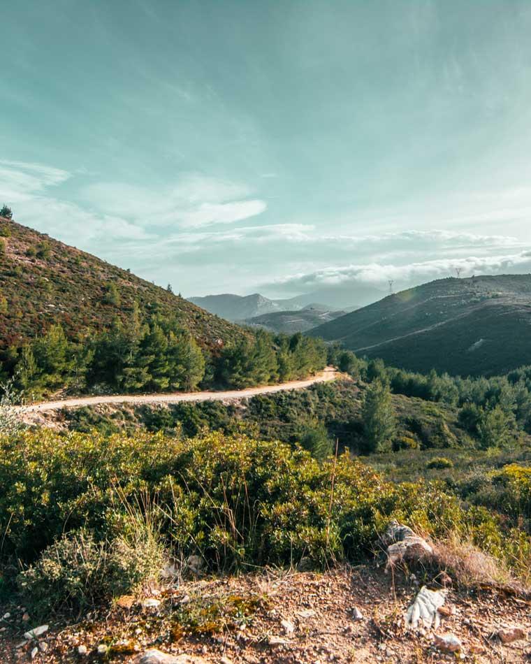 καταρράκτης Ραπεντώσας βουνό Πεντέλη