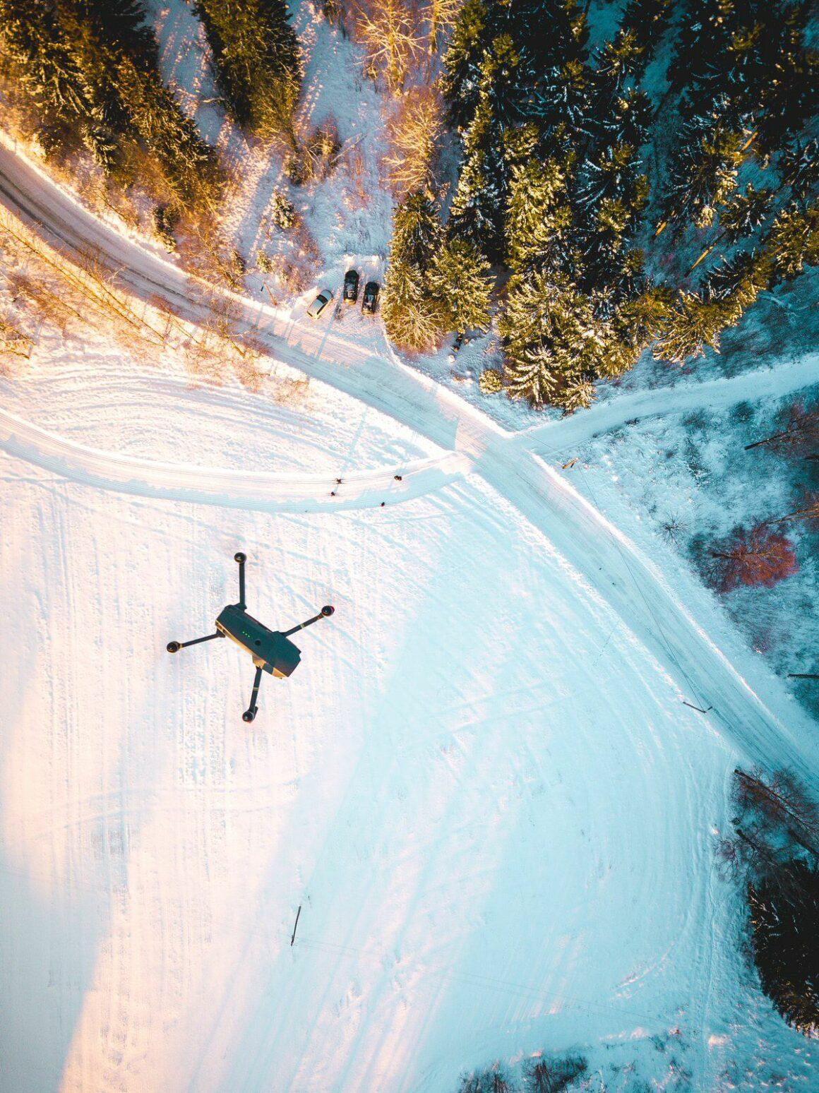 drone το χειμώνα top down photo travelshare.gr