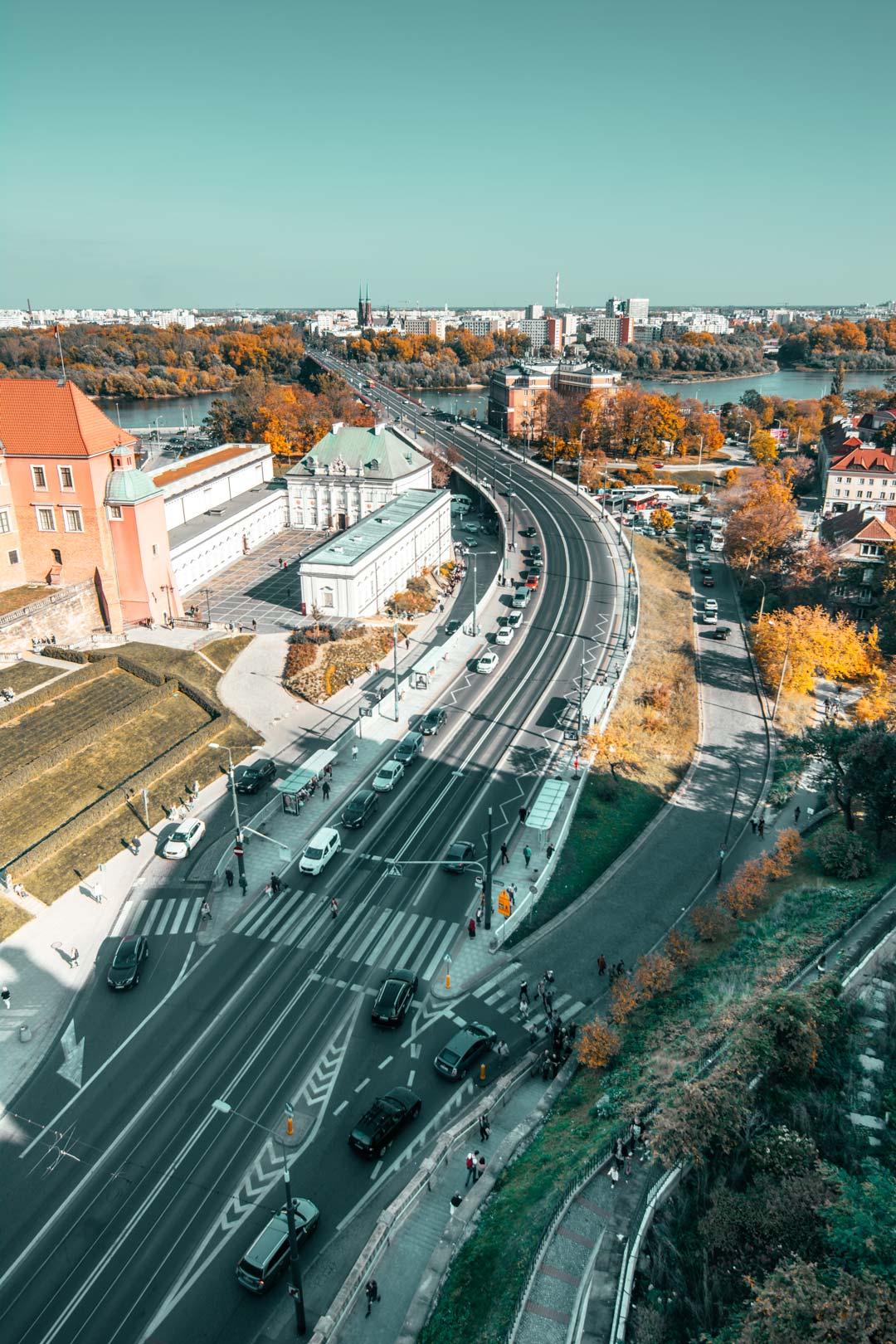Θέα-από-ψηλά-Βαρσοβία-Travelshare.gr-Πάνω-από-τον-Βίστουλα