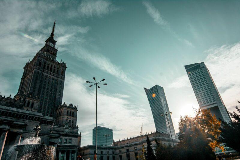 φωτογραφία στη Βαρσοβία Palace of science and culture