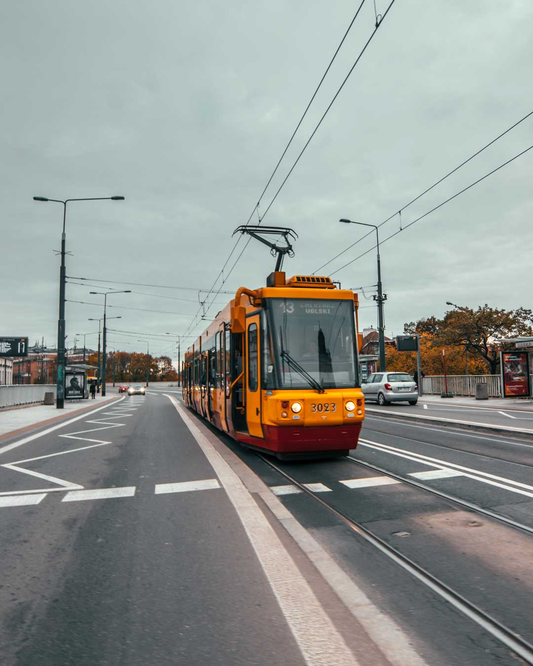 tram train in Warsaw travelshare.gr