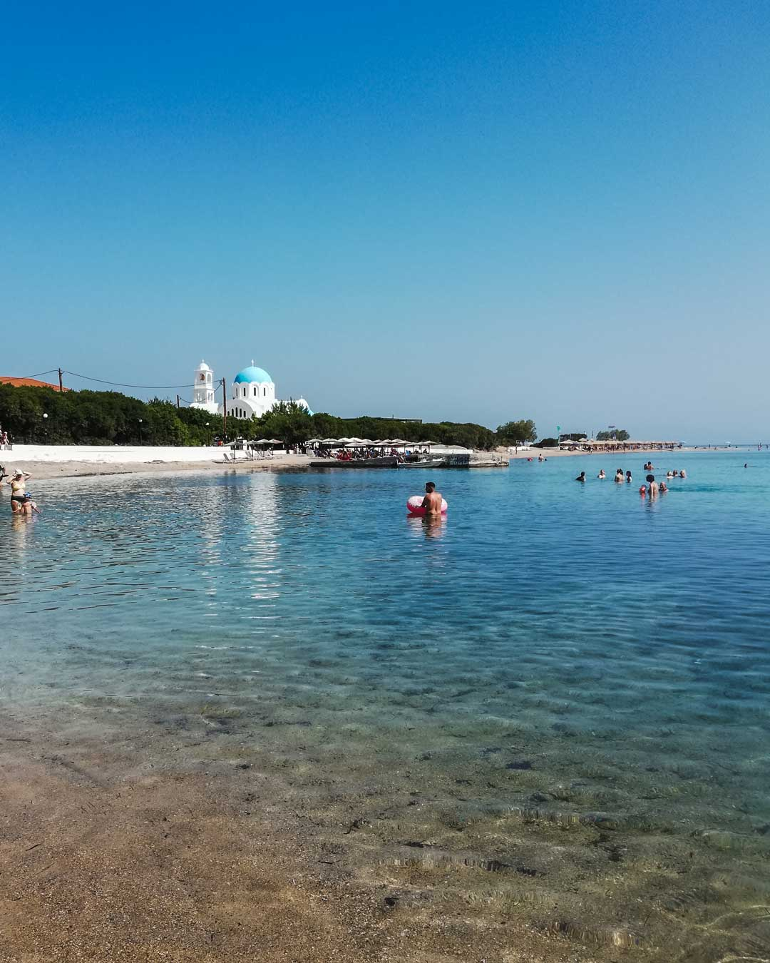 καλοκαίρι στο Αγκίστρι παραλία Σκάλα